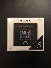 Sony ES MiniDisc Media MD - 5 pack sealed
