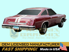 1974 GM Oldsmobile 442 W29 Paint Stencil Decals Stripes Kit Y73 Hood (non-AI)
