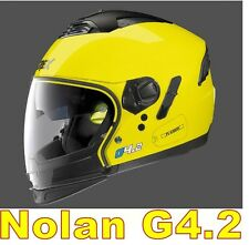 "CASCO NOLAN GREX G4.2 N-COM  EX N43E AIR GIALLO COL.6 Tg. "" XXL "" LED YELLOW"