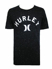 NEW HURLEY MENS GUYS SPECKLED GRAPHIC T SHIRT PREMIUM FIT CREW BLOUSE TOP TEE M