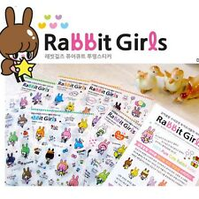 6pc Kawaii Rabbit Girl Color Deco Stickers DIY Diary Scrapbook Decal Photo Craft