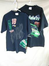 VINTAGE Men's Lot of 2 NASCAR Graphic T-Shirts Bobby Labonte #18 VERY COOL! LG