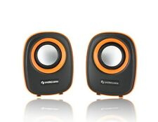 2x3W Portable Stereo Speaker Orange PC Computer Laptop USB Mini iPhone