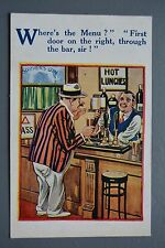 R&L Postcard: Comic HB 4644, Bartender Pub Inn Bar Beer