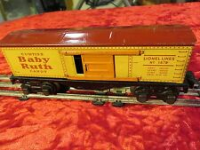 PREWAR LIONEL TRAINS # 1679 BOXCAR BABY RUTH CANDY O SCALE Red Roof 1930's