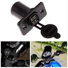 Dual USB Car Motorcycle Charger Power Adapter Socket Outlet Cigarette Lighter