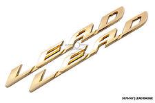 New side panel logo badge sticker set for Honda Lead NHX 110 SCV 100 * Gold