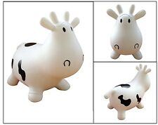 Kids Inflatable Bouncer Seat White Cow Bounce Ride-on Bouncy Child Play Fun Gift