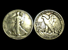 (1) 90% SILVER PRE 1964 WALKING LIBERTY HALF DOLLAR + 1 99.9% 24K GOLD $100 BILL
