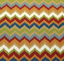 "RICHLOOM CHEVY GARDEN CHEVRON RED OUTDOOR FURNITURE FABRIC BY THE YARD 54"" W"