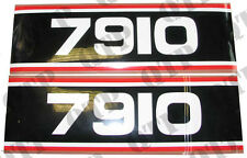 41816 Ford New Holland Decal Ford 7910 Super Q Cab Black & White x 2