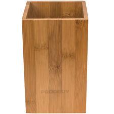 Square Modern Bamboo Wooden Kitchen Worktop Utensil Storage Jar Pot Holder