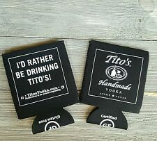 Tito's Handmade Vodka Beer Coozies New Set of 2