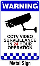 Warning CCTV Security Surveillance Camera METAL Safety Sign 150x225mm