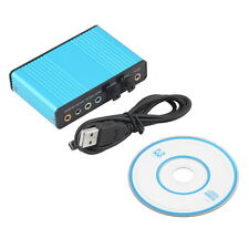 USB 6 Channel 5.1 Audio External Optical Sound Card Adapter For PC Skype GT