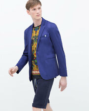 ZARA MAN BLUE JACKET BLAZER SUIT SS15 SIZES S, M, L & XL NEW