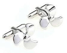Propeller Cufflinks - Groomsmen Gift - Men's Jewelry - Gift Box
