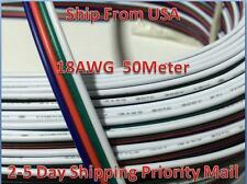 50M RGB 4-Pin 18AWG Extension Wire Connector Cable For 3528 5050 RGB LED Strip