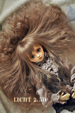 Bjd Doll Wig 1/4 7-8 SD MSD MDD AOD DZ AE DOD LUTS MINIFEE Dollfie Brown Hair