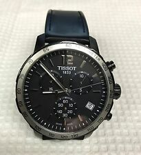 Tissot Quickster, Black Dial, Black Silicone Band, Mens Watch T095417A