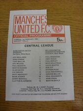 01/02/1983 Manchester United Reserves v Wolverhampton Wanderers Reserves  (Folde