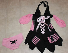 Sweet Nothings Women Sexy Pirate Pink/Black Pirate Outfit Costume Sz: S 5