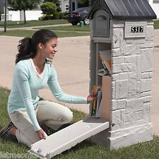 Mailbox With Lock Large Post Security Locked Secure Residential Rural Locking
