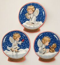 Precious Angel Baby Snow Globes -  Iron On Fabric Appliques - Christmas Crafts