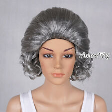 Grandma Grandmother Old Lady Gray Curly New Style Short Cosplay Wig