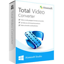 Total Video Converter WIN Aiseesoft dt.Vollversion-lebenslange Lizenz Download