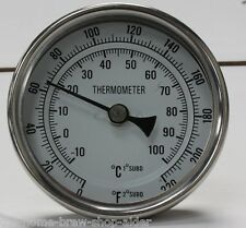 "Weldless Thermometer 2"" Long- Home Brewing - All Grain - Boiler - Mash Tun - HLT"