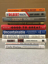 Lot of 10 Business Books, Dilbert Principle, Hiring Excellence, Uncontainable