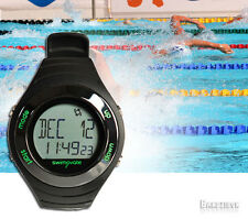 Swimovate PoolMate Live Swimming Lap Counting Counter Watch Pool Lenght Black