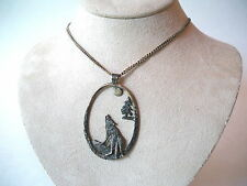 BINDER FBM Sterling Sliver Chain and A Wolf Pendant Necklace