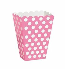 8 Pink White Polka Dot Spot Style Party Paper Loot Treat Favor Bags Boxes