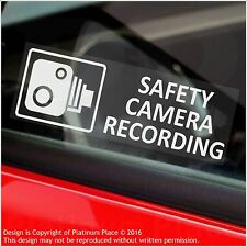 5 x SAFETY Camera Recording Warning Stickers-30mm CCTV Sign-Car,Taxi,MiniCab Van