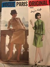 Vintage Suit Dress 1455 VOGUE PARIS ORIGINAL Jacques Griffe Pattern Sz12 Rare!