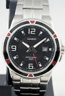 Casio MTP-1330D-1A Men's Watch Silver Stainless Steel Quartz Black Dial New