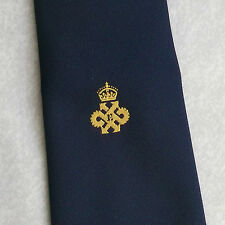 CROWN MOTIF LOGO TIE VINTAGE RETRO EMBLEM CREST 1970s 1980s ASSOCIATION CLUB
