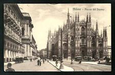 Milano : Piazza del Duomo - cartolina viaggiata nel 1910