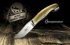 New Viper Bergmasco Limited Folding Knife with Horn Tip Handle - Made in Italy