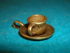 Pendant Coffee Cup Charm Bronze Coffee Cup Charm Tea Cup Charm Alice in Wonderla