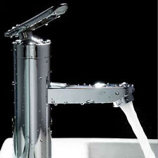 Modern Chrome Bathroom Single Handle Basin Faucet Vessel Sink Waterfall Taps New