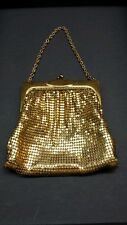 ART DECO Whiting and Davis GOLD Mesh Evening Bag Purse Great Condition