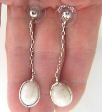 """Fresh Water Pearl 14mm 925 Sterling Silver Chain Dangle Earrings 2"""""""