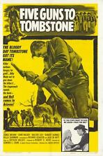 FIVE GUNS TO TOMBSTONE Movie POSTER 27x40 James Brown John Wilder Walter Coy