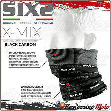 SIXS SIX2 TBX SCALDA COLLO COLLARE TERMICO X-MIX CARBON BLACK MOTO SCOOTER BICI