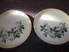 Taylor Smith & Taylor STRAWBERRIES Dinner Plate set 2  good cond.