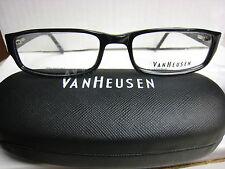 VAN HEUSEN EYEGLASS FRAMES Style   TOP NOTCH in BLACK  54-17-140 With Case