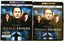 ANGELS & DEMONS 4K ULTRA HD BLU RAY + SLIPCOVER SLEEVE FREE WORLD WIDE SHIPPING
